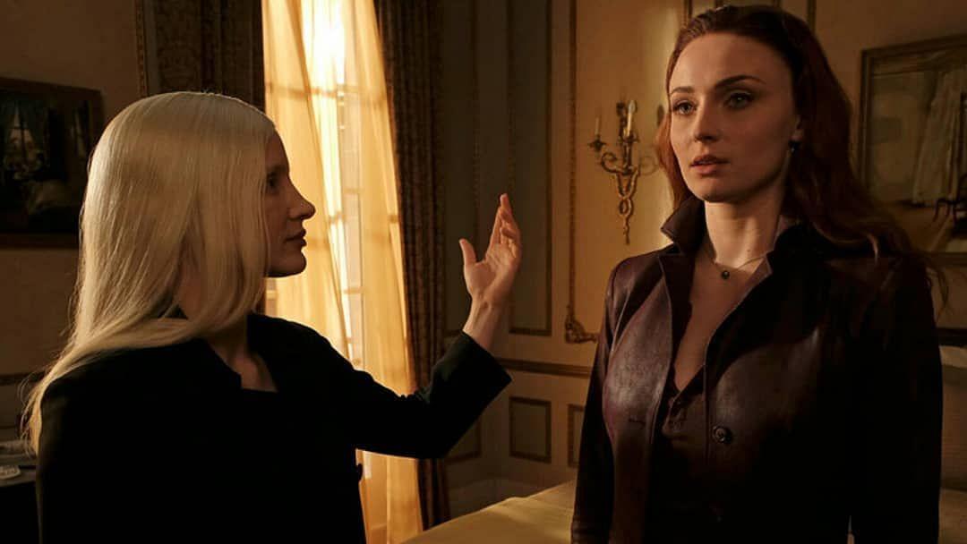 Jessica Chastain and Sophie Turner in <i>Dark Phoenix.</i>
