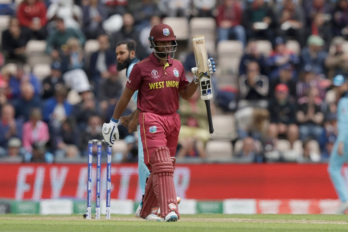 West Indies owed their total to Nicholas Pooran (63), who chose the biggest stage to strike his maiden ODI fifty.