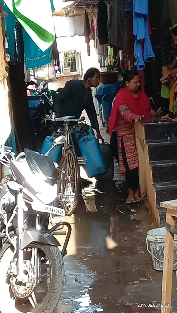 The vendor sells water to the residents of Yaduvanshi Welfare Society, Malad who face acute water shortage.