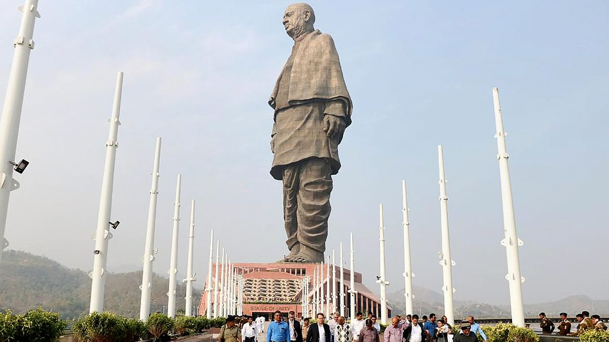 Statue of Unity Gallery Floods, Officials Say It's Part of Design