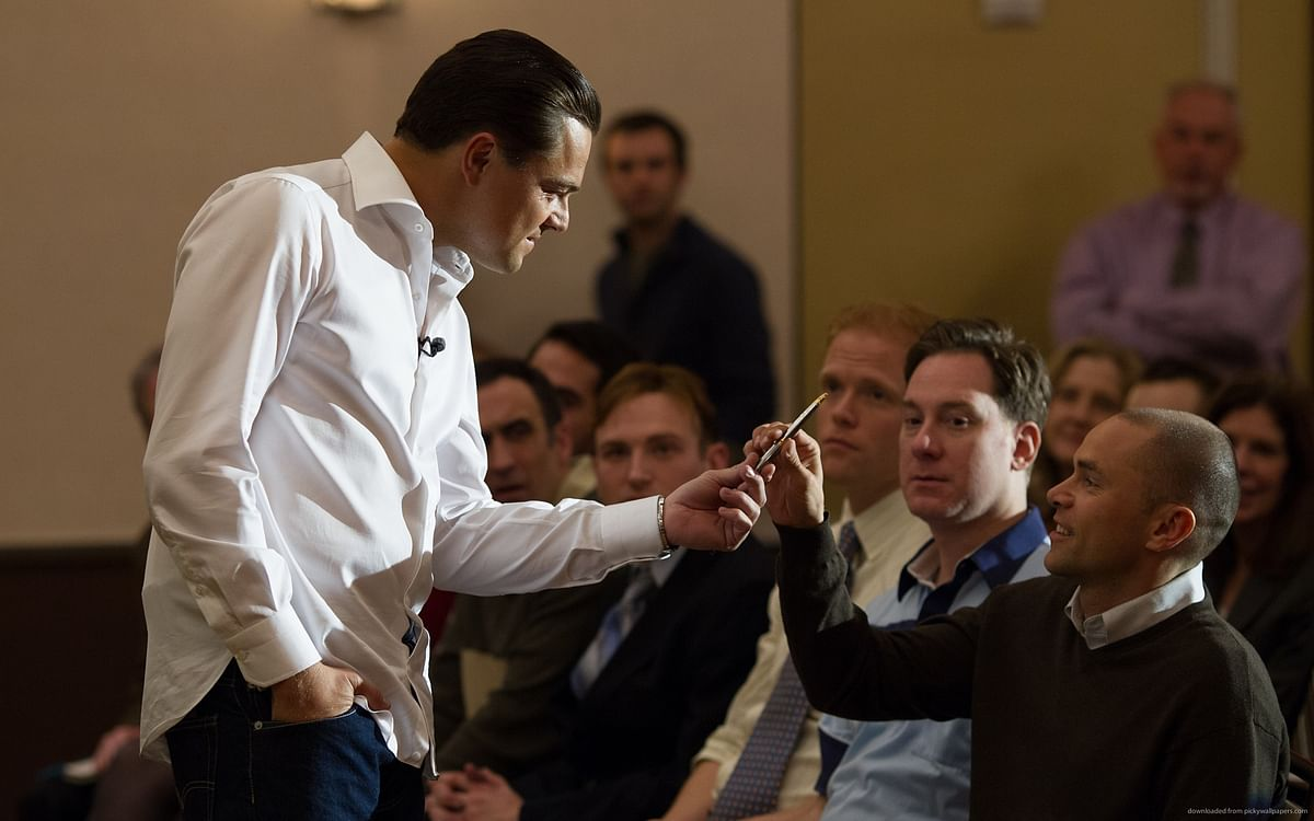 A still from <i>The Wolf of Wall Street</i>.