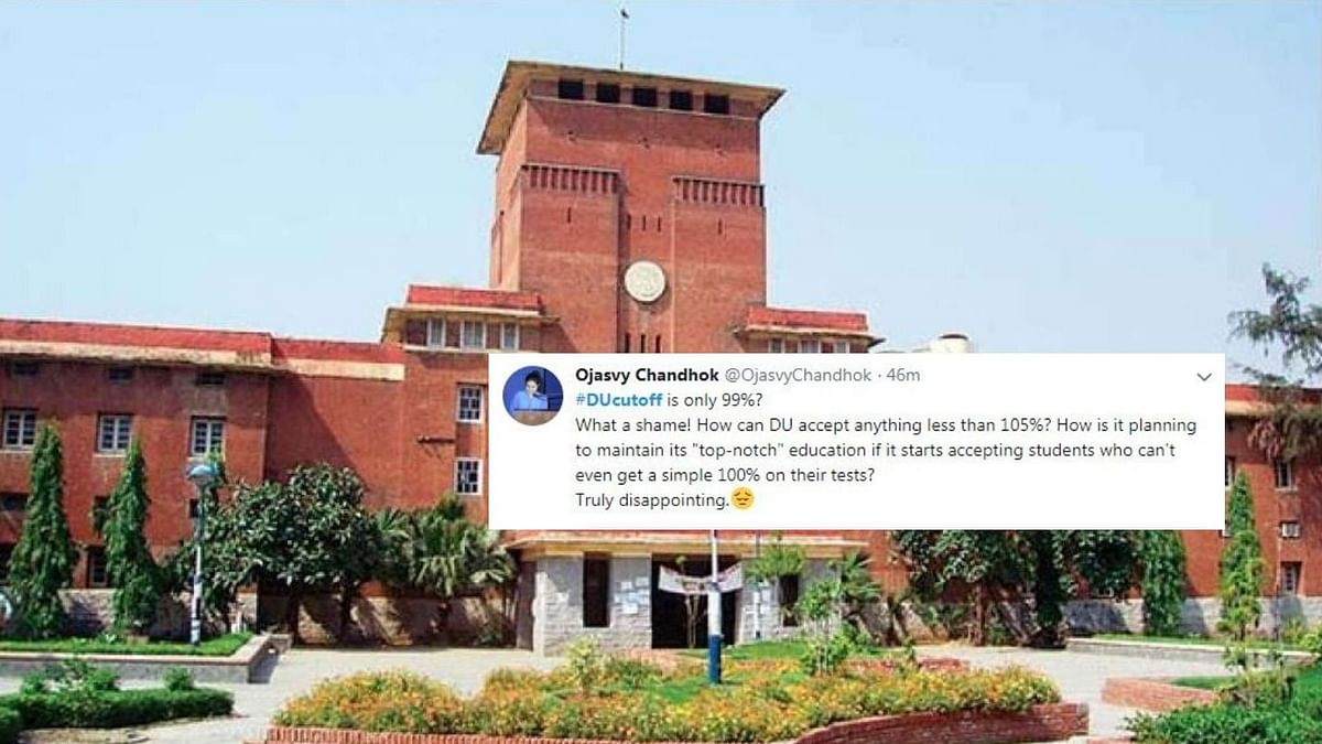 'Why Not 105%?': Netizens React to DU Cut-Offs