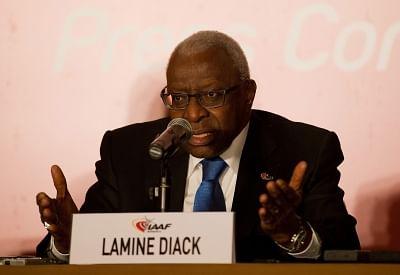 Lamine Diack. (Xinhua/Cao Can/IANS)