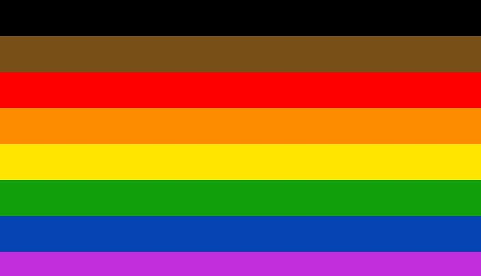 New pride flag which was unveiled in Philadelphia.
