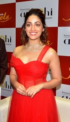Guwahati: Actress Yami Gautam during a programmme organised to launch a jewellery collection in Guwahati on Dec 6, 2018. (Photo: IANS)