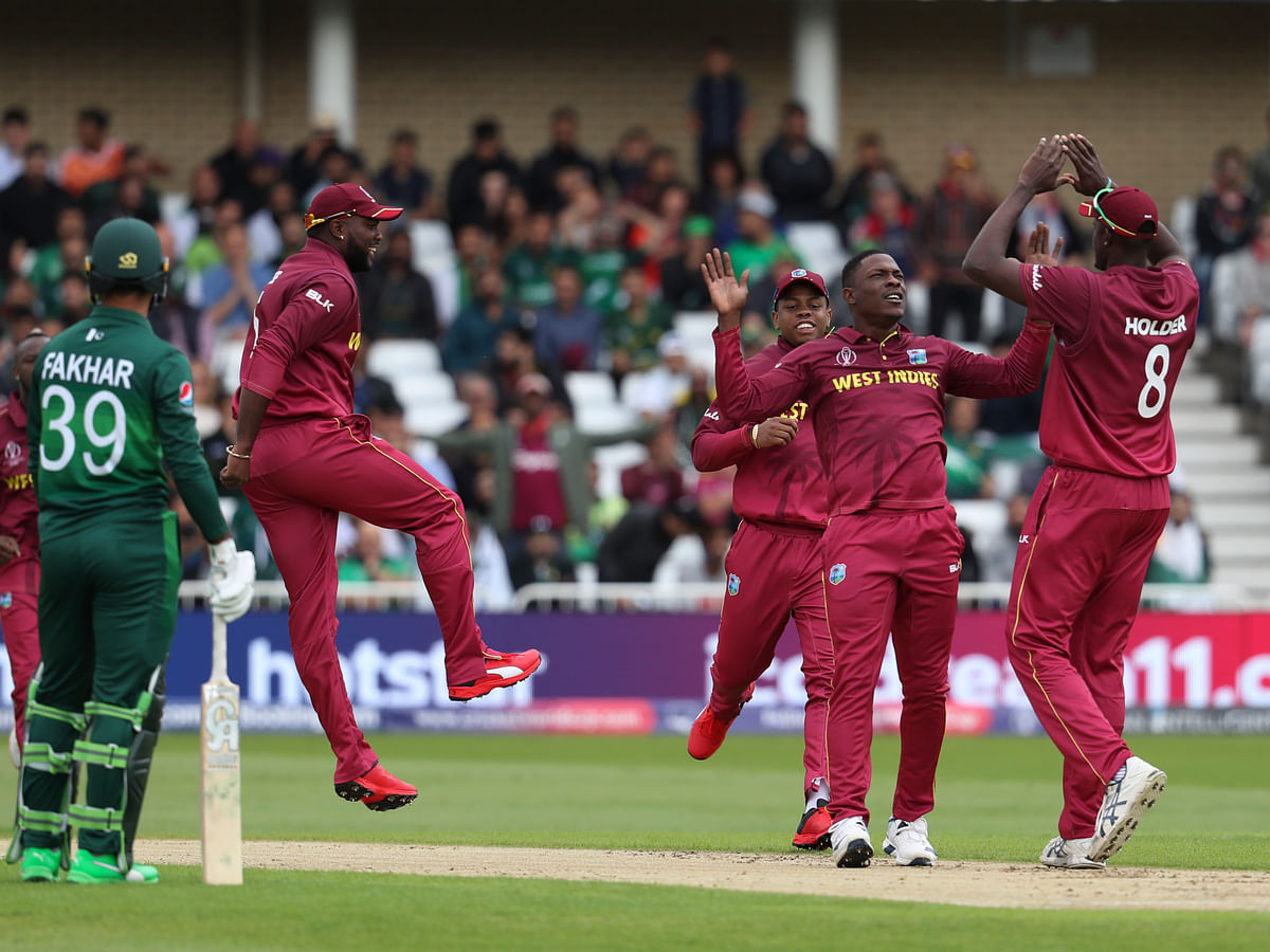 West Indian Bowlers resorted to the Short ball strategy against Pakistan.