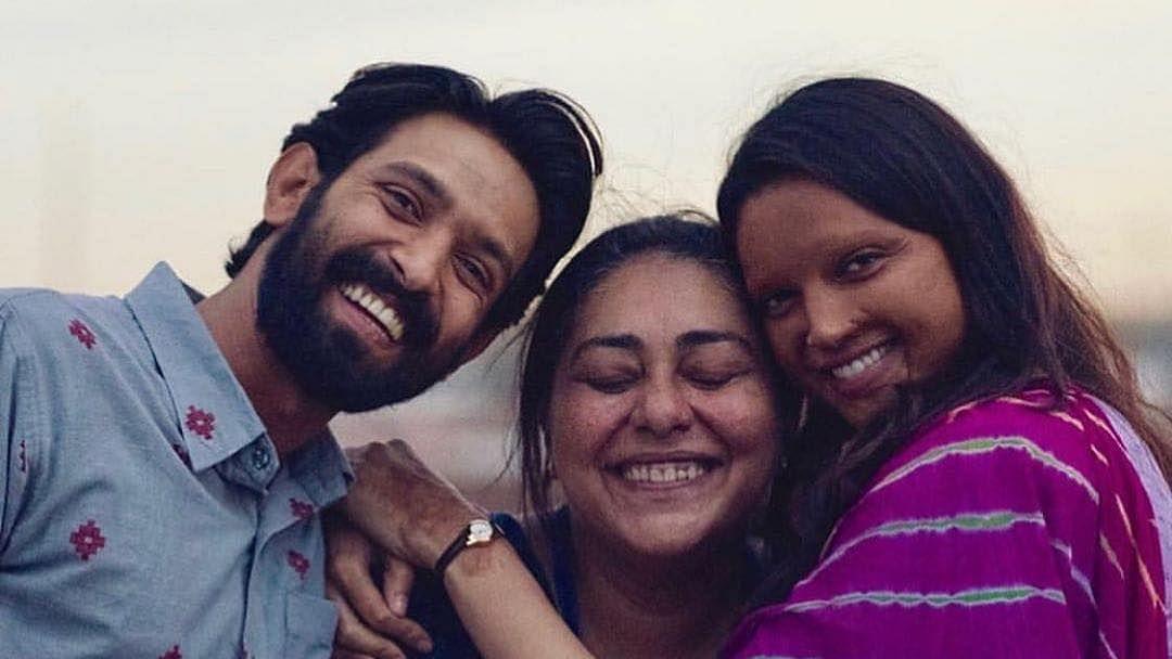 Vikrant Massey, Meghna Gulzar and Deepika Padukone.