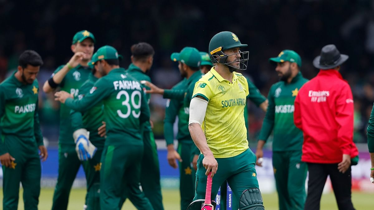 South Africa have been knocked out of the World Cup after a 49-run loss to Pakistan.