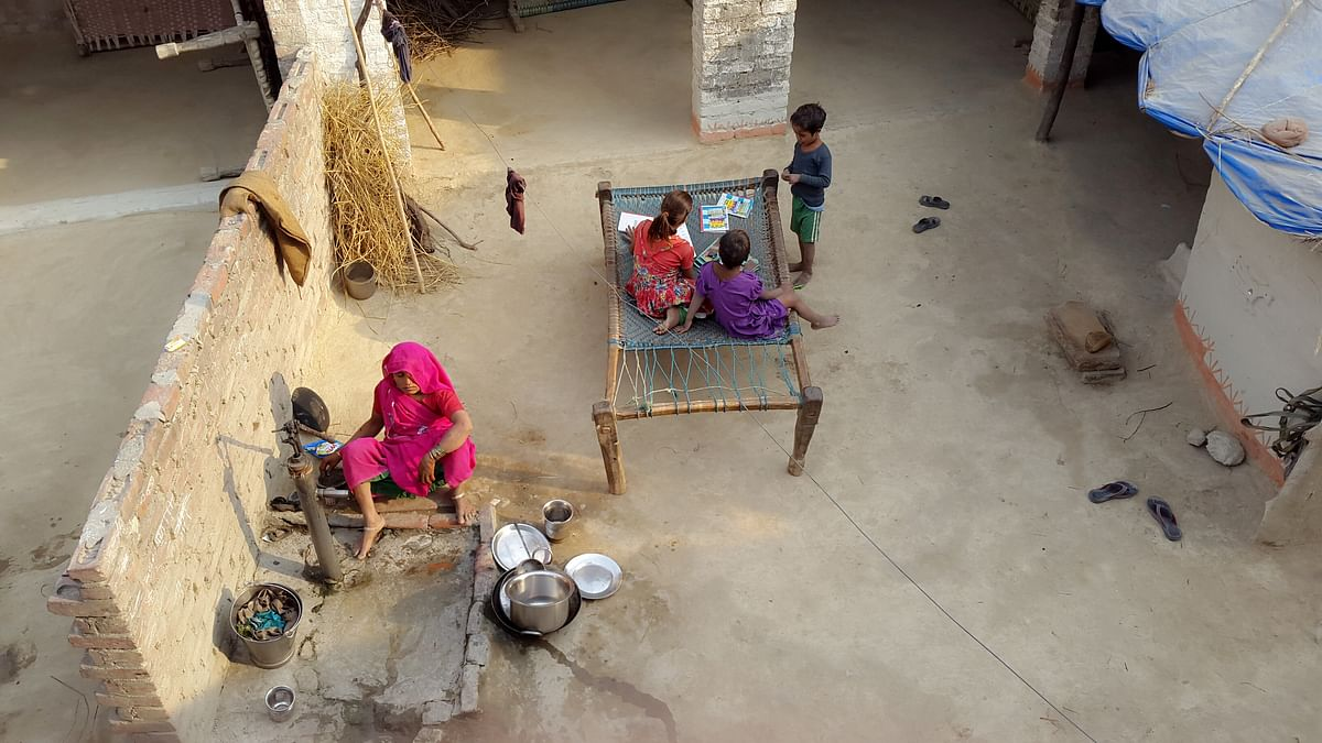The residents of Badaun village are reluctant to speak to outsiders about the 2014 double hangings.