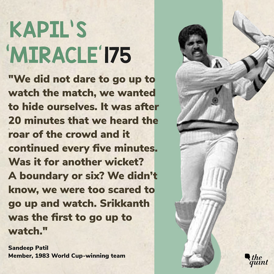 Kapil Dev's 1983 WC 175 vs Zimbabwe Was a Miracle: Sandeep Patil