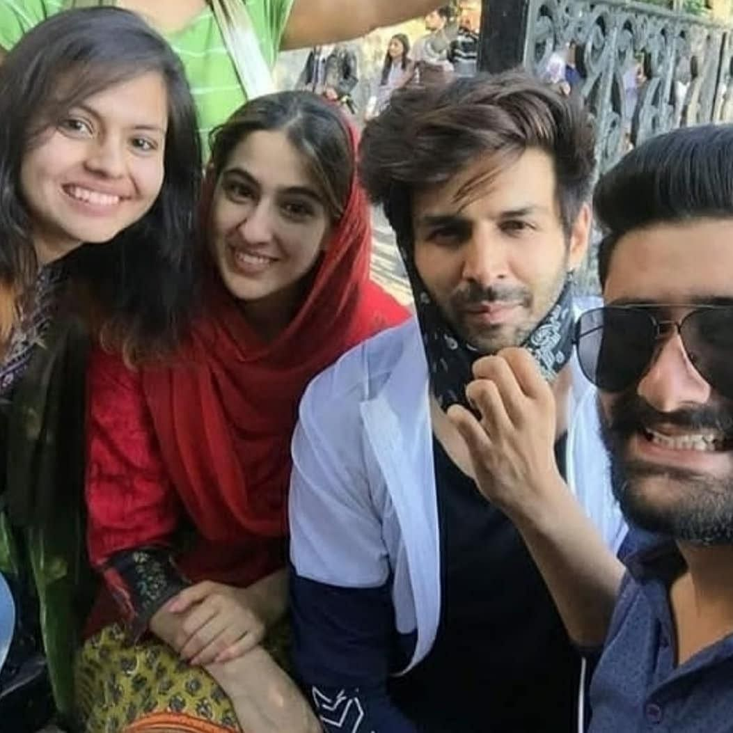 Kartik, Sara Don Himachali Caps on Sets of Imtiaz Ali's Next Film
