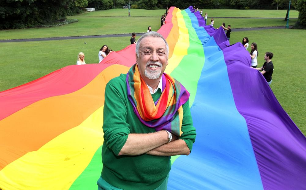 Gilbert baker's work as a flag maker spanned nearly 4 decades.