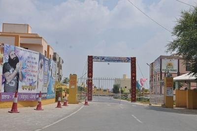 Dera: A view of the deserted Dera Sacha Sauda Ashram ahead of rape convict Dera Sacha Sauda chief Gurmeet Ram Rahim Singh