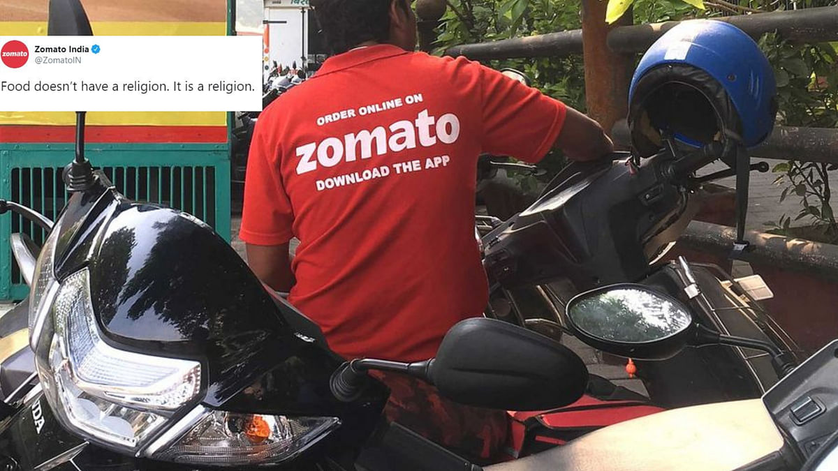 """""""Food has no religion,"""" responded Zomato to a controversial post."""