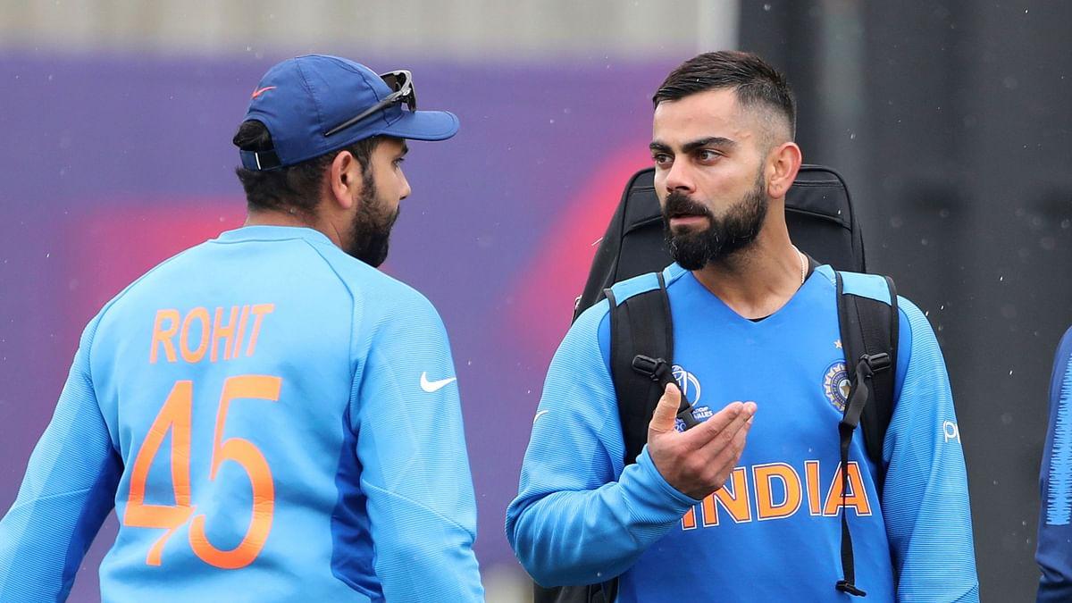 "<div class=""paragraphs""><p>Rohit Sharma and Virat Kohli in training.&nbsp;</p></div>"