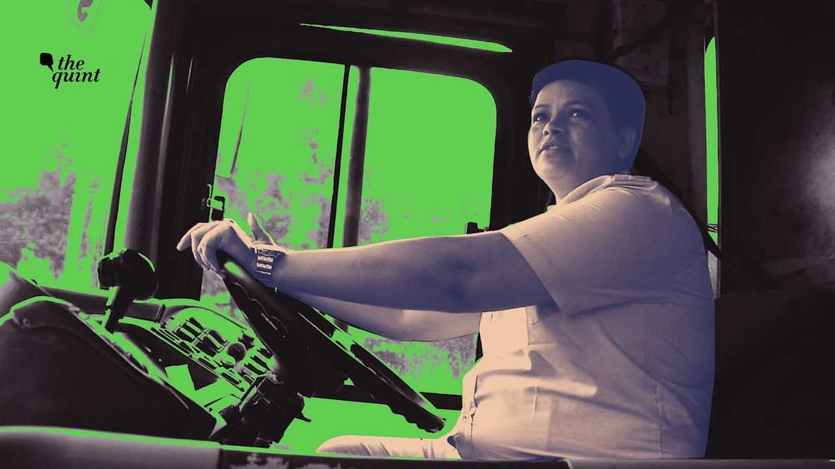 Amongst almost 11 thousand DTC bus drivers, V Saritha is the only woman at the wheels.