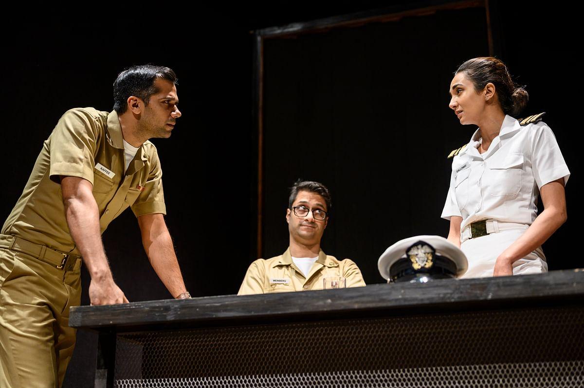 Bhoopalam, Siddharth Kumar and Ira Dubey in a scene from <i>A Few Good Men.</i>