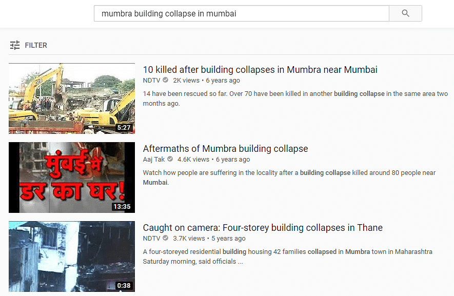 YouTube keyword search led us to a NDTV video.