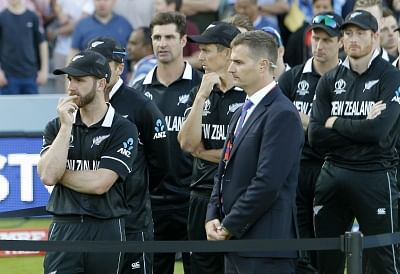 London: London: New Zealand players after losing the final match of the 2019 World Cup against England at the Lord