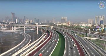 A screenshot of the BMC video depicting the Mumbai Coastal Road once its finished.