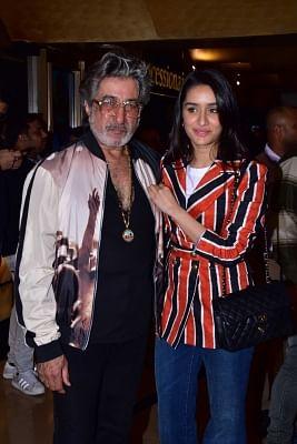 Shraddha Kapoor with her father Shakti Kapoor. (Photo: IANS)