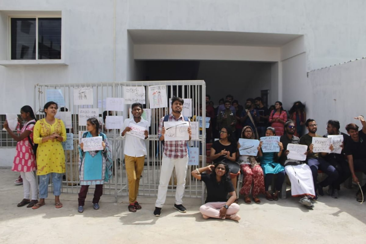Students protest in TISS