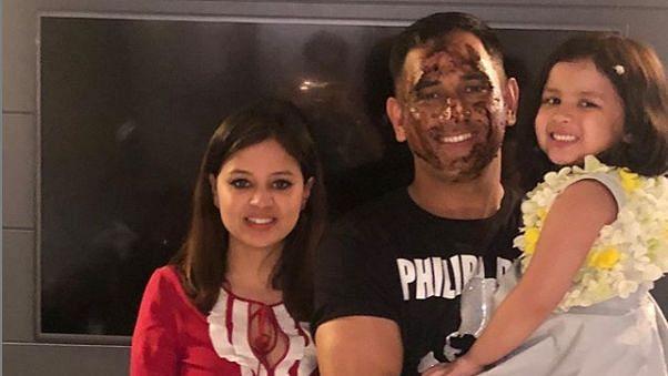 Dhoni Celebrates 38th Birthday With Ziva, Sakshi, Kedar, Pandya
