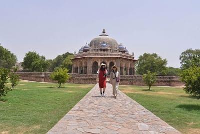 New Delhi: Visitors at Humayun