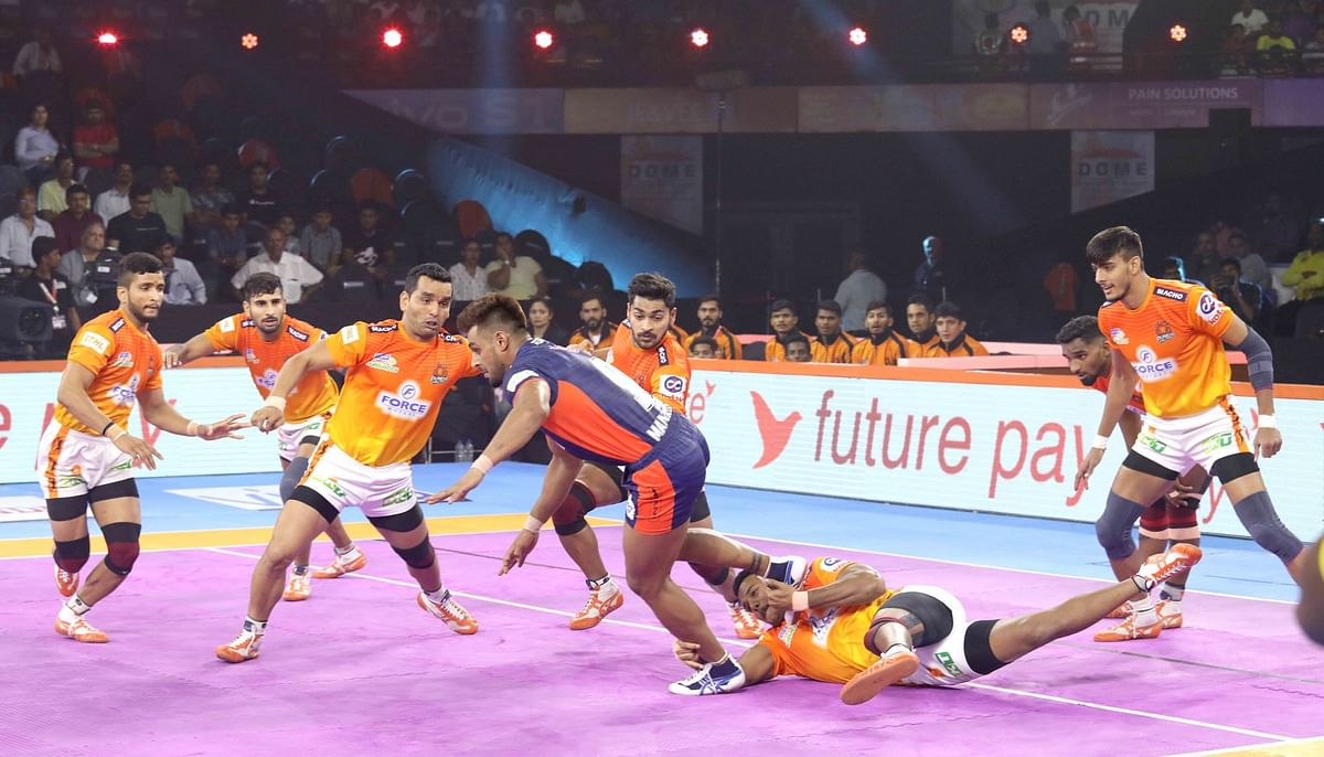 Maninder Singh was the chief architect of Warriors' win as he scored 14 raid points