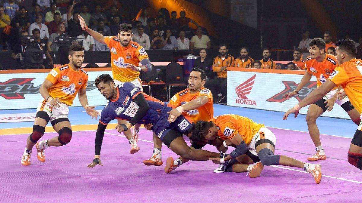 For Puneri Paltan, Girish Ernak scored three tackle points and Pankaj Mohite top scored with 6 points.