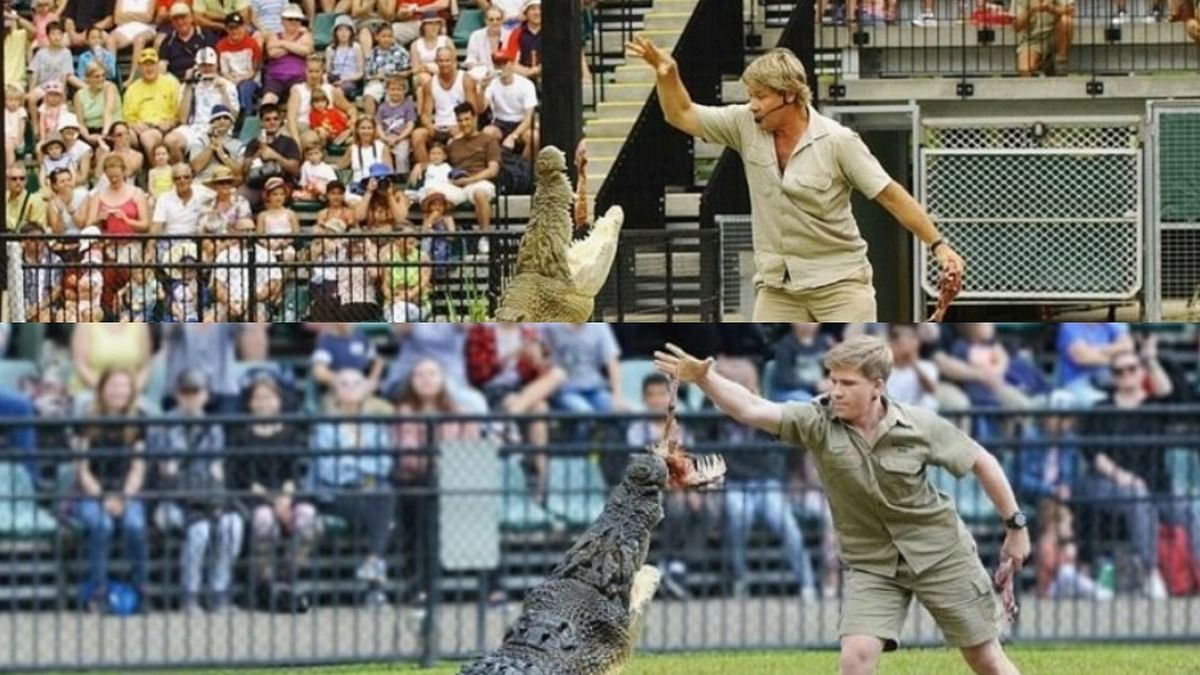 Steve Irwin's Son Recreates a 15-Year-Old Photo With a Croc