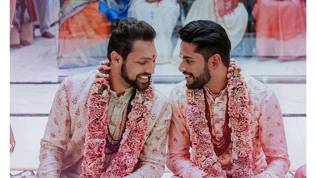 Choreographer Amit Shah and his partner Aditya Madiraju.