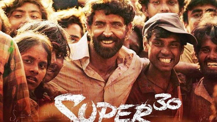 Hrithik Roshan in a poster for Super 30.