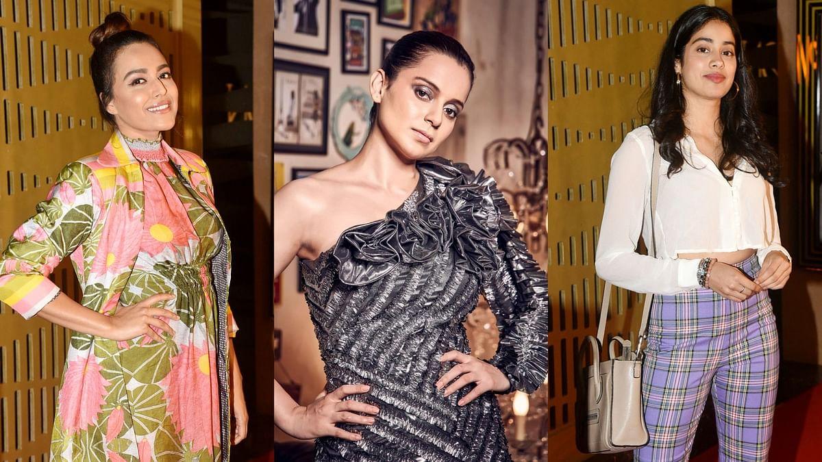 Pics: Kangana, Jahnvi, Swara  at 'Judgementall Hai Kya' Screening