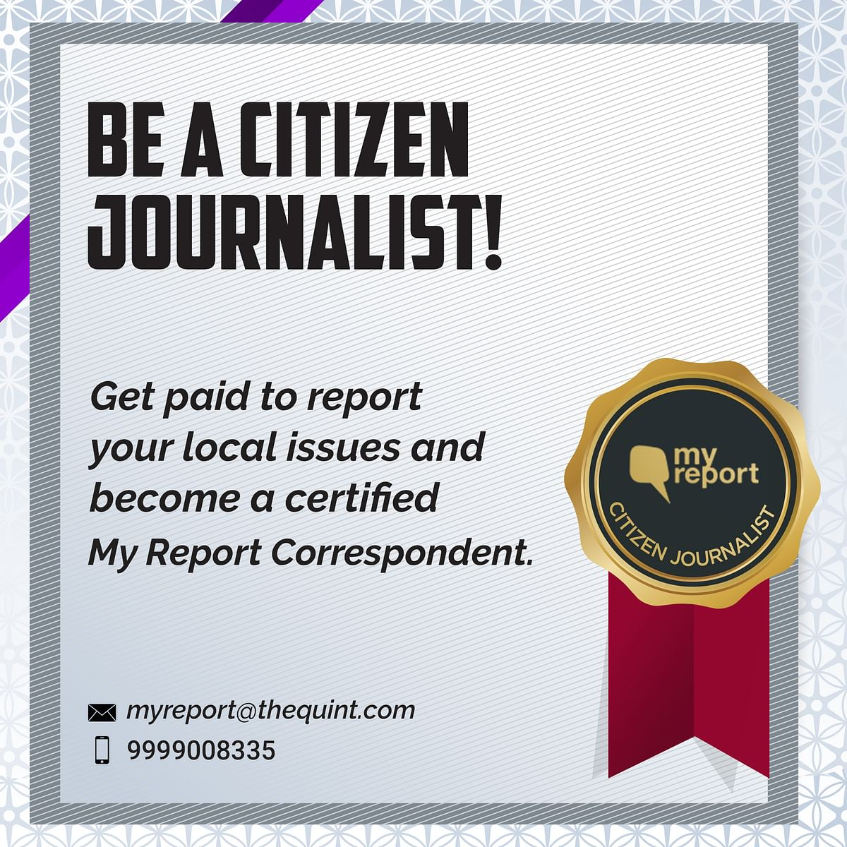 Be a Citizen Journalist With The Quint &  Get Rewarded for Stories