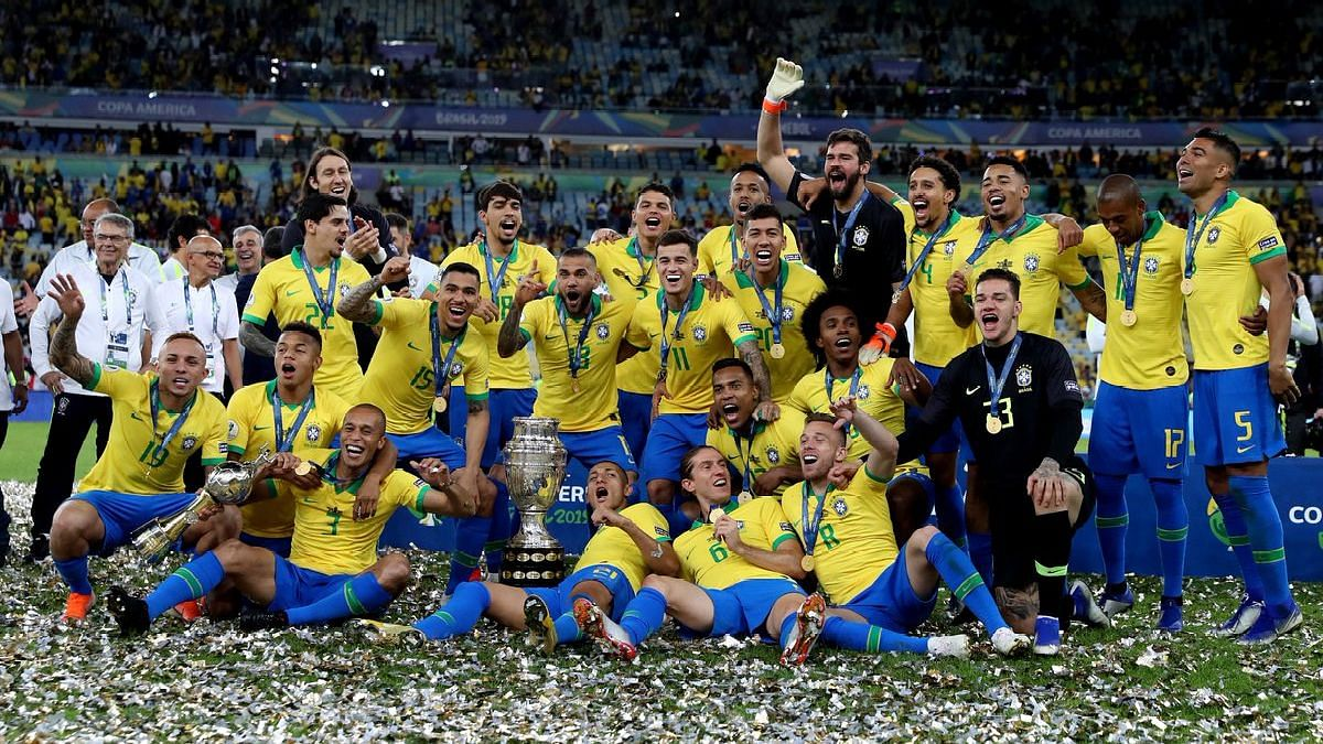 Brazil defeated Peru 3-1 to win its first Copa America title since 2007.
