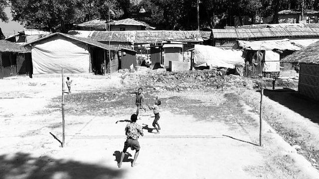Children playing at Camp 9, Balukhali, Bangladesh.