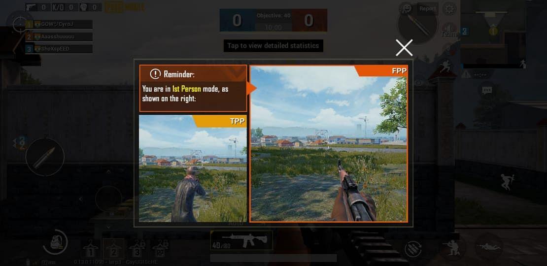 TPP mode in Team Deathmatch mode.