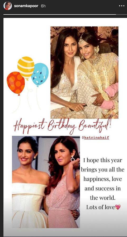 Alia, Sonam & Bollywood Celebs Shower  Katrina With  B'day Wishes