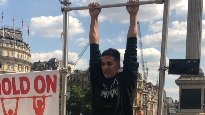 Akshay Kumar takes up a challenge.