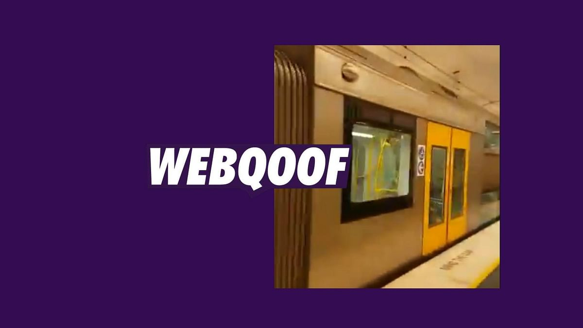 No, Sydney Metro Train  in the Viral Video Is Not 'Made In India'