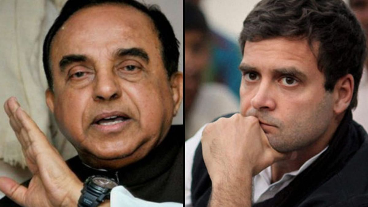 FIR Against Subramanian Swamy For Alleging Rahul Takes Cocaine
