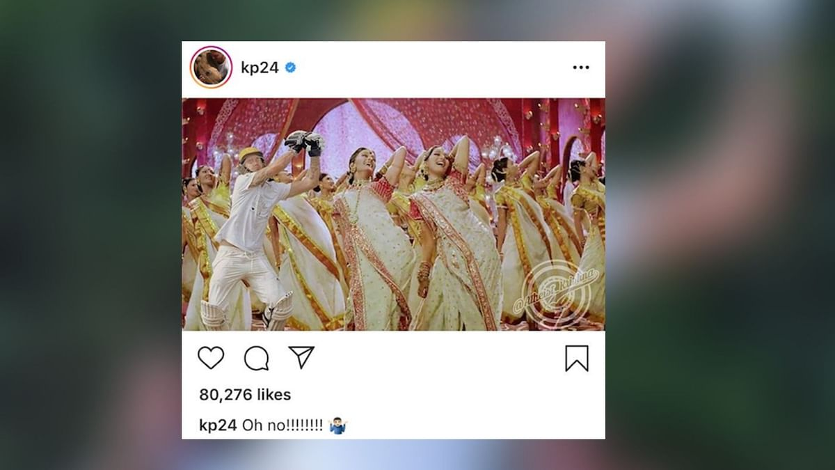Pietersen shared a post of himself photoshopped in a Bollywood dance scene.