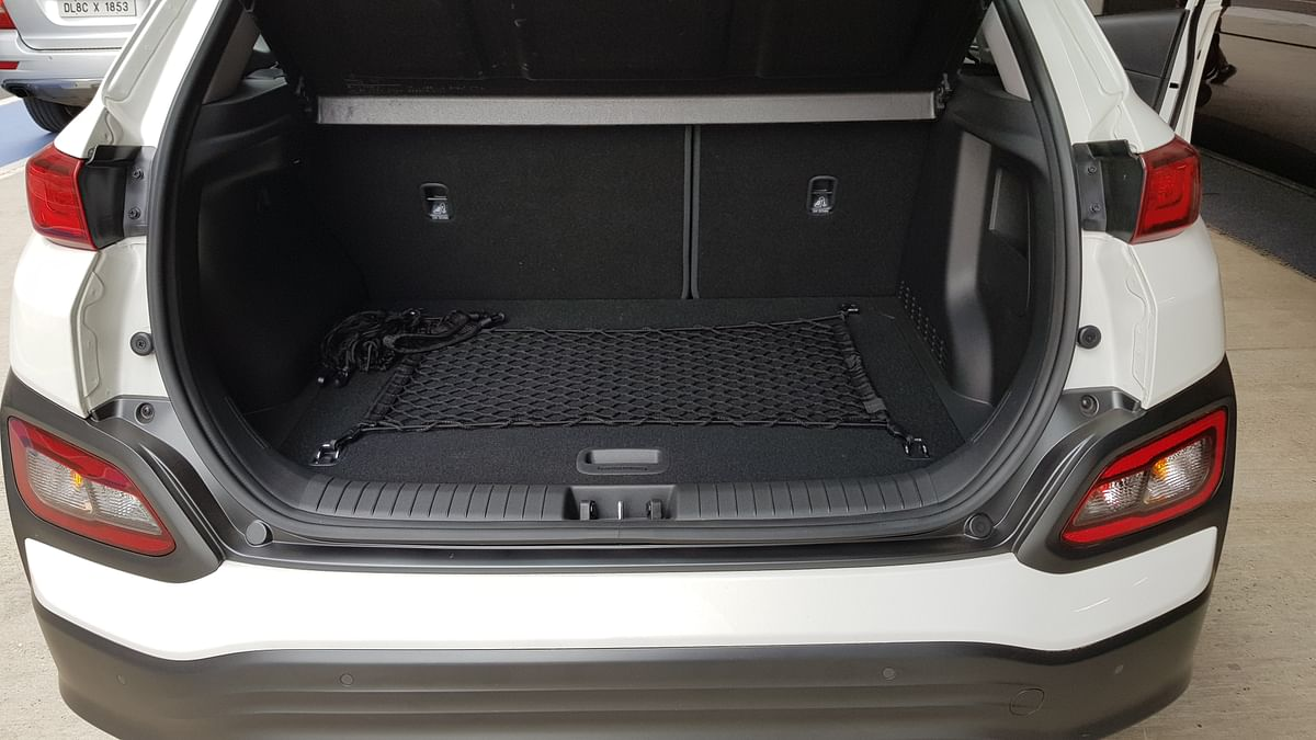 The Hyundai Kona comes with a 361-litre boot.