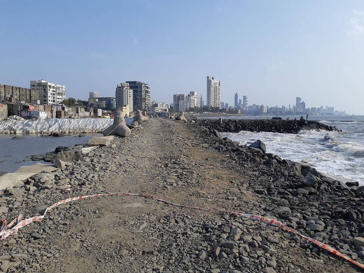 Construction work at the reclaimed sites have been halted since the Bombay High Court order.