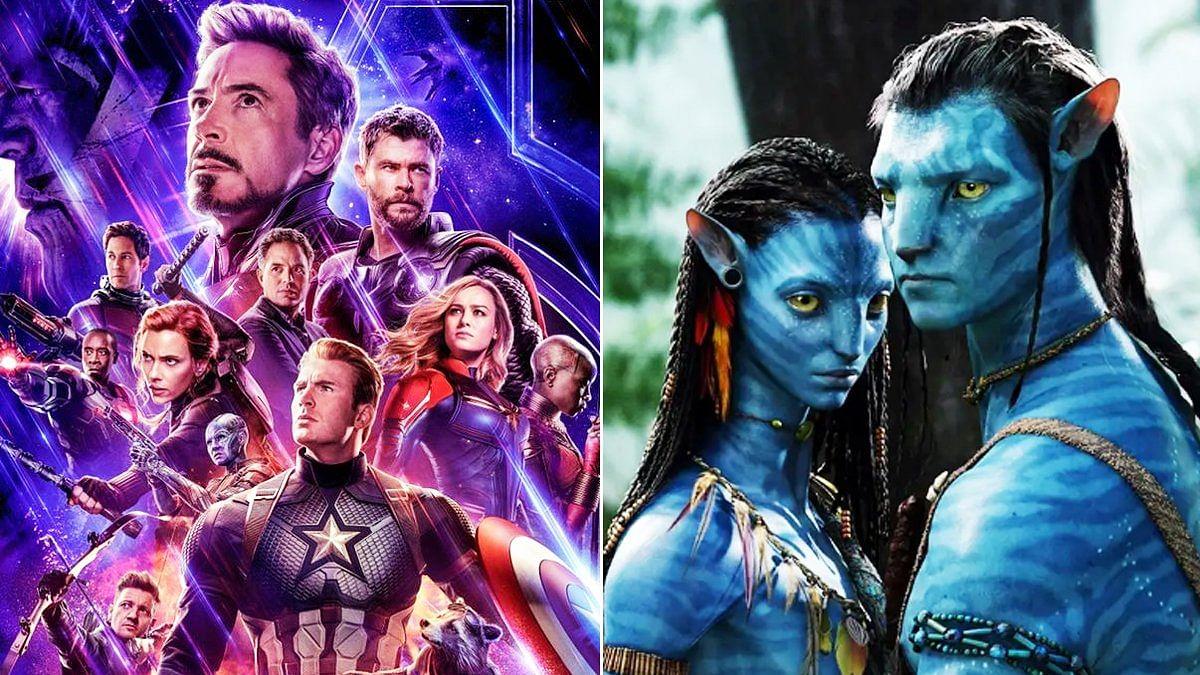 Posters for <i>Avengers: Endgame</i> (L) and <i>Avatar</i> (R).