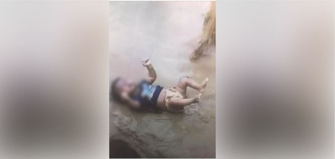 The photo of the body of a dead child which is viral on social media.