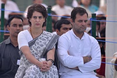 Rahul Gandhi and Priyanka Gandhi Vadra. (Photo: IANS)