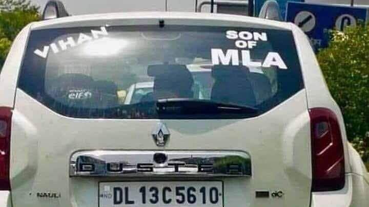 Notice to SAD's Sirsa From Delhi Speaker Over 'Son of MLA' Sticker