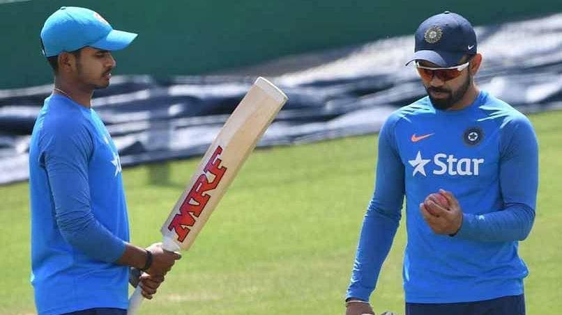 File picture of Shreyas Iyer and Virat Kohli.